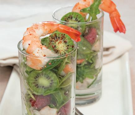 NERGI®, prawn, basil and rocket verrines