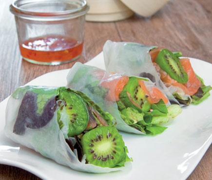Gourmet NERGI® roll with smoked salmon