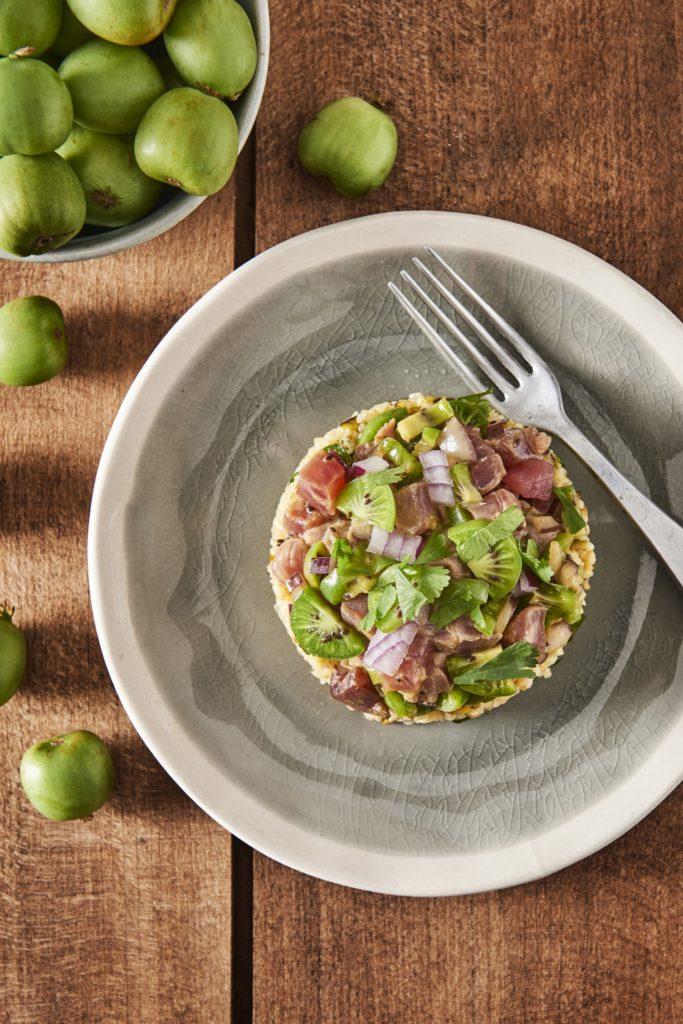 Tuna tartare with Nergi® kiwi berries
