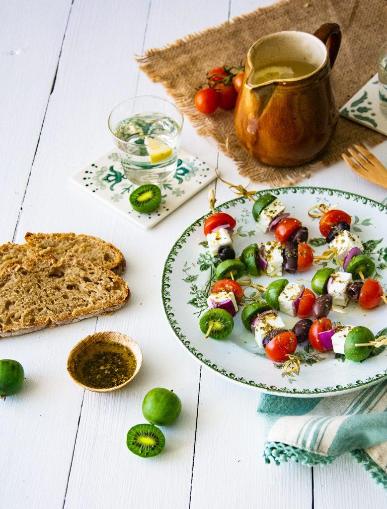 Greek-style Nergi® Kiwi Berry skewers