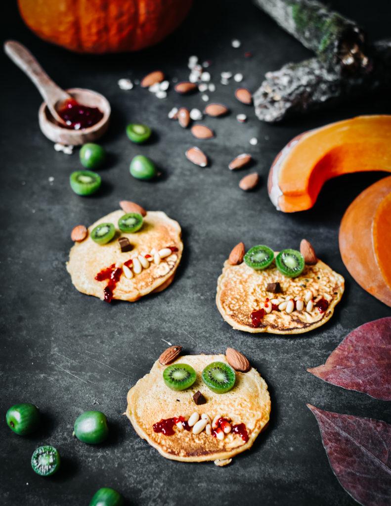 Pancakes d'Halloween aux mini kiwis Nergi®