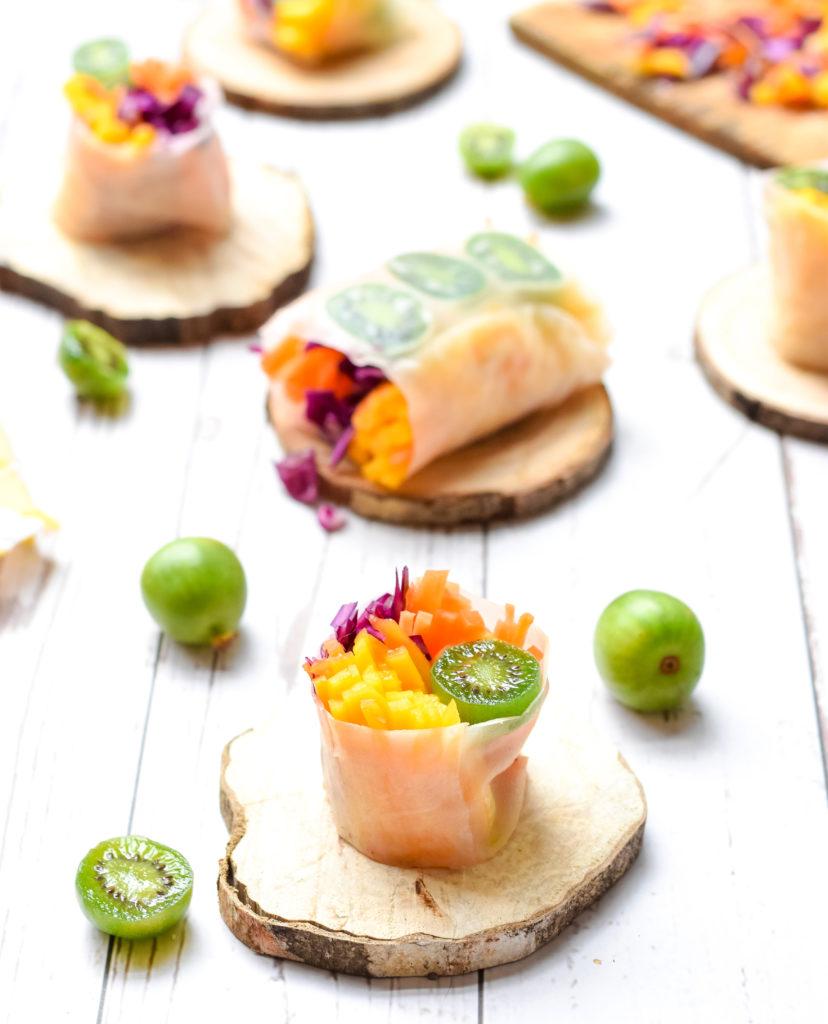 Spring rolls with Nergi® kiwi berries